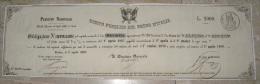 PRESTITO NAZIONALE OBBLIGAZIONE LIRE 2000 DEBITO PUBBLICO DEL REGNO D'ITALIA ANNO 1867 - Azioni & Titoli