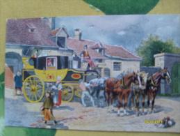 Illustratore Schnorpfeil  Carrozza Posta  Franzoische Eilpost Im Jahre 1840 Edizione Wien - Cartoline