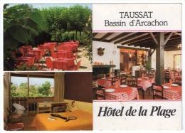 Taussat, Hôtel De La Plage, 3 Vues, M. Et Mme Georgelin, Scan Recto-verso - Autres Communes