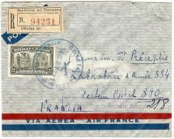LBL23 - PARAGUAY - PERIODE II GM - LETTRE AVION REC. LEGATION DE FRANCE A ASUNCION / SP 390 SEPTEMBRE 1939 - Paraguay