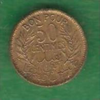 50 Centimes  TUNISIE  1941  (PRIX FIXE)  (BH10) - Túnez
