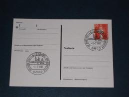 Karte Germany Bund Sonderstempel 1987 6802 Ladenburg 150 Jahre Post  Jubiläumsfeier - Machine Stamps (ATM)