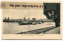 - Kehl A. Rh - Rheinbrucke, Pont Du Rhin, Péniche, Non écrite, BE, Scans. - Kiel