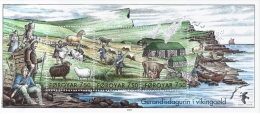 "Hojita De Tres Sellos ""Vida De Los Vikingos"" De Las Islas Feroe - FOROYAR - Faroe Islands - Faroe Islands"