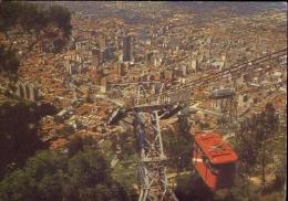 Bogota  - Columbia - Teleferico Que Conduce Al Santruario De Monserrate Al Fondo Panoramico - Formato Grande Viaggiata - - Colombia
