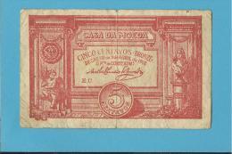 CÉDULA De 5 CENTAVOS - SÉRIE EU - Pick 98 - CASA DA MOEDA - PORTUGAL - EMERGENCY PAPER MONEY - NOTGELD - Portugal