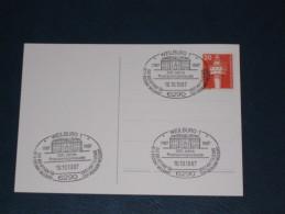 Karte Germany Bund Sonderstempel 1987 6290 Weilburg 200 Jahre Postamtsgebäude Postamt Post Postoffice - Machine Stamps (ATM)
