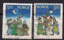 Norwegen  (1991)  Mi.Nr.  1082 + 1083   Gest. / Used  (cc169) - Gebraucht