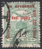 Hungary, 16 F. + 2 F.. 1915, Sc # B42, Mi # 169, Used - Hungary