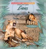 Uganda. 2012 Lions I. (406b) - Big Cats (cats Of Prey)