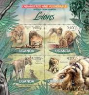 Uganda. 2012 Lions II. (407a) - Big Cats (cats Of Prey)