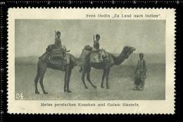 Original German Poster Stamp Reklamemarke Sven Hedin Explorer Geographer Expedition Caravan Camel Karawan - Geography