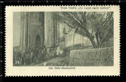 Old Original German Poster Stamp Cinderella Reklamemarke Trans-Himalaya Sven Hedin Explorer Geographer Expedition - Geography
