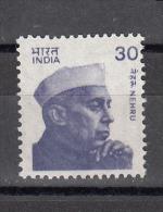 INDIA, 1980, Definitive, Nehru, 30p, Small Stamp, Perf/Dent 14.5,   MNH, (**) - Nuevos