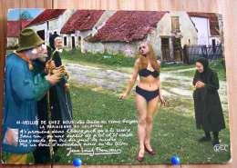 PIN UP HUMOUR FEMME SEMI NUE PARISIENNE EN CULOTTON  EN PETITE CULOTTE VEILLEE DE CHEZ NOUS J.L. BONCOEUR - Pin-Ups