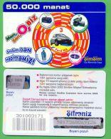 Azerbaijan GSM Prepaid - Azercell SIMSIM 50000 Manat /like UNC / Old Card Cars