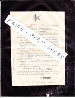 Faire-part Décès M. Henri Marie Armand Vicomte DUGON, Moidière Par Verpillière, 1888 - Décès