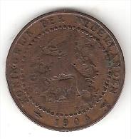 Netherlands  1 Cent 1904 Km 132.1   Fr+ - [ 3] 1815-… : Koninkrijk Der Nederlanden