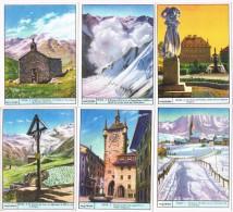 6542. Serie Completa 6 Cromos  GALLICROMO, Serie 19, Suiza, Switzerland - Geografía