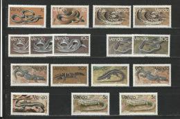 Venda: 1 Lot Entre 120 Et 136 **  Serpents Et Lézards - Non Classificati
