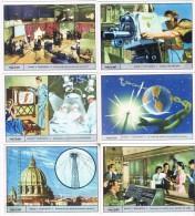 6544. Serie Completa 6 Cromos  GALLICROMO, Serie 16, Radio Y Television - Fichas Didácticas