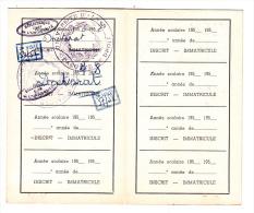 Faculté De Droit D´Alger - Carte D´étudiant 1957/1958 (doctorat) - Diplome Und Schulzeugnisse