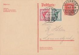 DR Ganzsache Zfr. Minr.378,379 SST Chemnitz 3.4.27 Briefmarkenausstellung 1927 - Deutschland