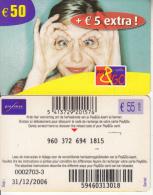 BELGIUM - Woman, Proximus Prepaid Card 50 Euro, Exp.date 31/12/06, Used - GSM-Kaarten, Herlaadbaar & Voorafbetaald