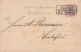DR Ganzsache Nachv. Stempel Haaren Reg.Bez. Minden 15.6.75 Seltener Stempel - Deutschland