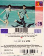 BELGIUM - Couple, Proximus Prepaid Card 25 Euro, Exp.date 31/12/05, Used - Cartes GSM, Recharges & Prépayées