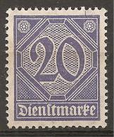 Deutsches Reich 1920 # Dienst - Michel 26 ** - Service