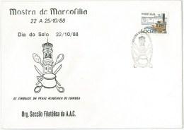 Portugal - Academic Traditions Symbols - Praxe Académica - Coimbra - Stamp Day - Tower, Wooden Spoon, Chamber-pot - Dag Van De Postzegel