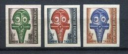 Polinesia Francesa 1958. Yvert T 1-3 Imperforated ** MNH. - Non Dentelés, épreuves & Variétés