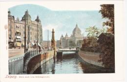 Leipzig Blick Nach Dem Reichsgericht Color Ungeteilte Rückseite Also 1905 Oder Früher Verlag Louis Glaser TOP-Erhaltung - Leipzig