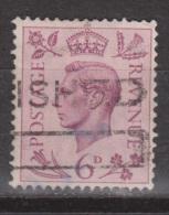 Engeland United Kingdom, Great Britain, Angleterre, Bretagne, King George VI, SG 470, Y&T Used - 1902-1951 (Koningen)