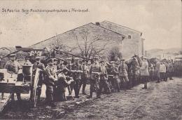 MIL144  --  DEUTSCHE  FELDPOST 1915  --  ST MAURICE  --  BEIM MASCHINENGEWEHRPUTZEN   FRANCE  --  PREUSSISCHE 1. BRIGADE - Weltkrieg 1914-18