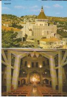 Nazareth 2 Cartes Partial View + The Church Inside - Palestina