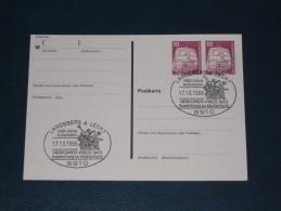Karte Germany Bund Sonderstempel 1986 8910 Landsberg Am Lech 100 Jahre Automobil Auto Car Herkomer Preis 1903 - Machine Stamps (ATM)