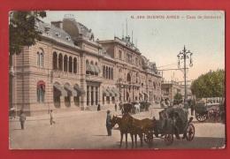 BAMAF-01 Buenos Aires, Casa De Goblerno, Attelages, Calèche. ANIME. Circulé En 1914 Vers Genève.Fumagalli Edicion - Argentine