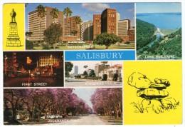 ZIMBABWE - SALISBURY / THEMATIC STAMP-RHINO - Zimbabwe