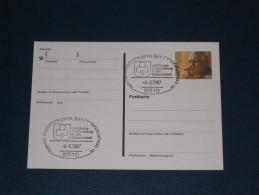 Karte Germany Bund Sonderstempel 1986 8510 Fürth 90. Geburtstag Ludwig Erhard Politiker Minister Geburtstadt - Machine Stamps (ATM)