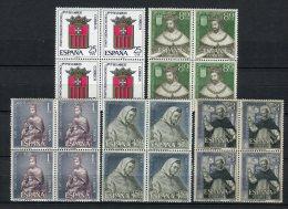 España 1963. Edifil 1521-25 X 4 ** MNH. - 1961-70 Nuovi