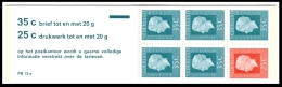 Postzegelboekje 13a (pb 13a) Met Verschoven Zegel 25cent MOOI - LEES!! - Postzegelboekjes En Roltandingzegels