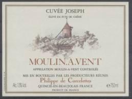 THEME MOULIN étiquette De Vin MOULIN A VENT 9 - Windmills