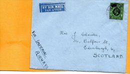 Hong Kong Via Imperial Airways Cover Mailed To UK - Covers & Documents