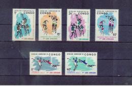 KONGO Dem.Rep.. CONGO  , 1965 , ** , MNH , Postfrisch ,   Mi.Nr. 221 - 226 - Dem. Republik Kongo (1964-71)