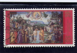 VATICAN, 2000, USED # 1172, PAINTINGS: THE BAPTISM Of CHRIST By PIETRO PERUGINO,  USED - Vatican