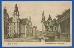 Deutschland; Halle Saale; Zivil Gerichtsgebäude Und Denkmal - Halle (Saale)