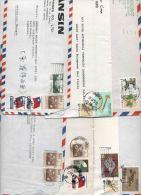 Taiwan, Lotto Storia Postale E Frammenti Anni 80 - Collections, Lots & Series