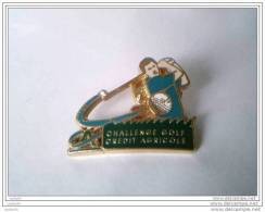 PIN´S - Sport - Golf - CHALLENGE GOLF - CREDIT AGRICOLE -   (DECAT-PARIS) - Golf